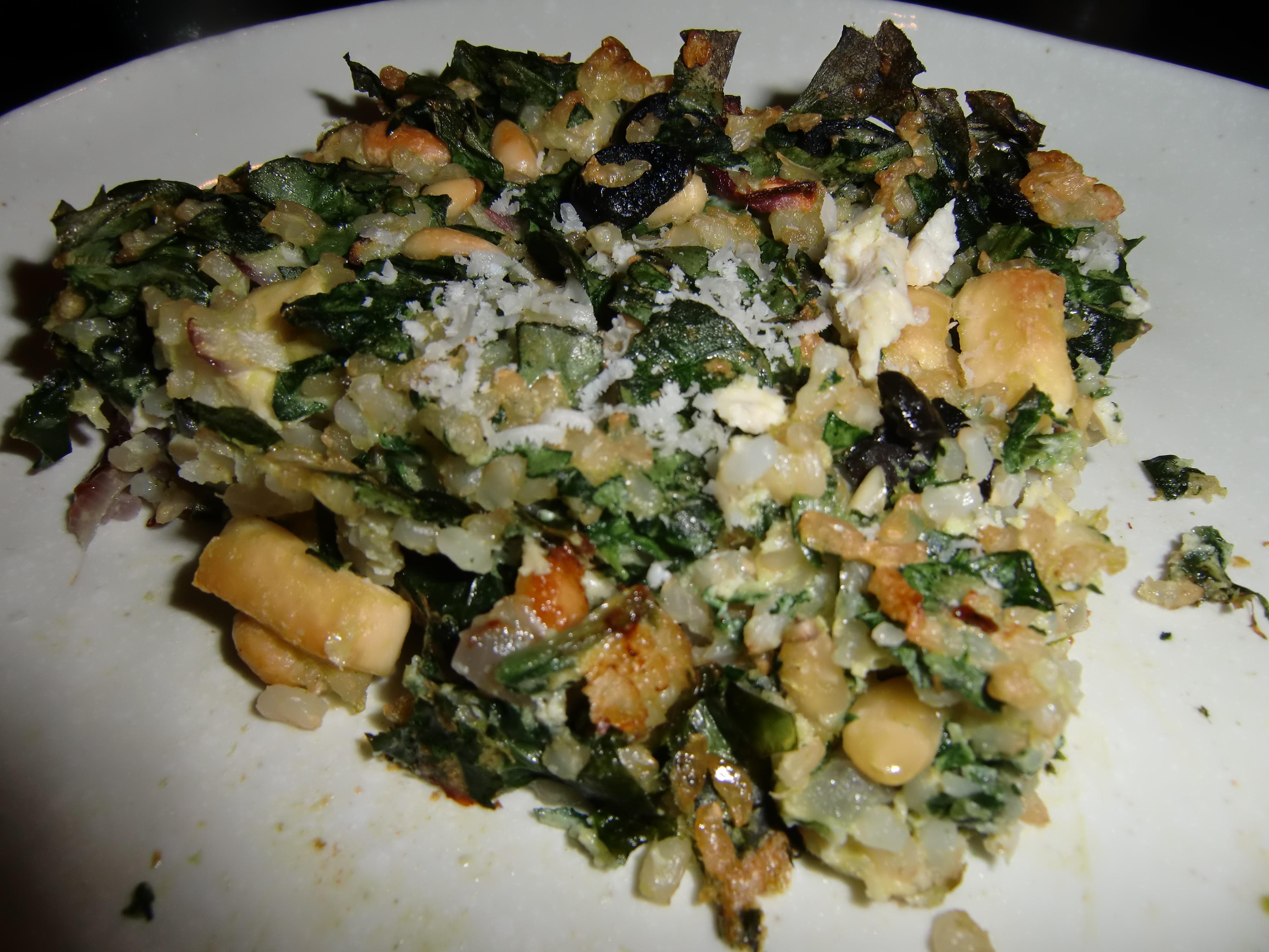 Spinach Rice Gratin Recipe — Dishmaps